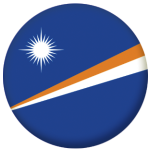 Marshall Islands Country Flag 25mm Flat Back